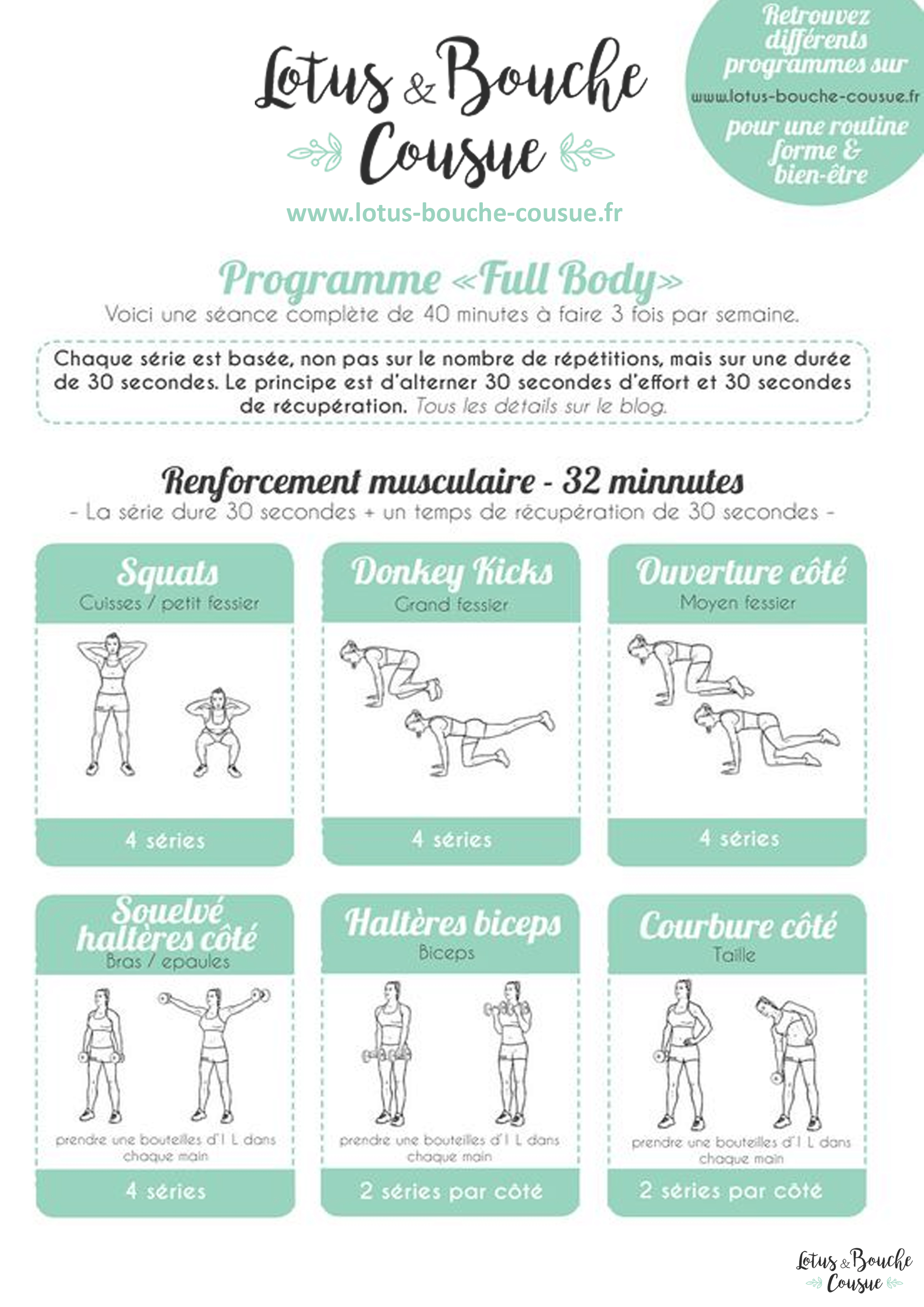 Programme fitness full body la maison lotus bouche for Programme entrainement sportif