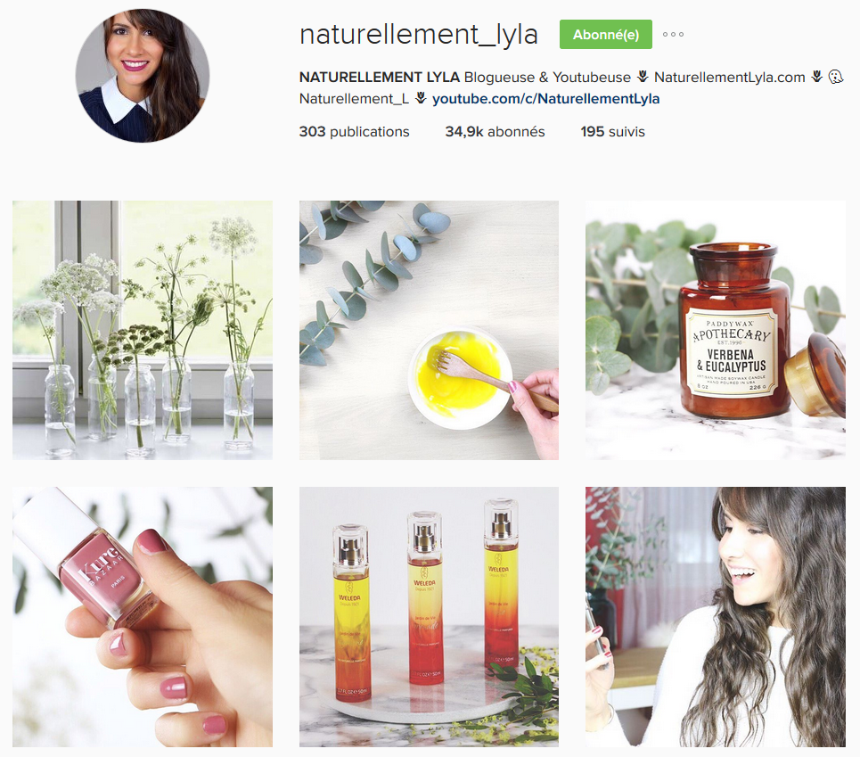 Instagram Naturellement Lyla