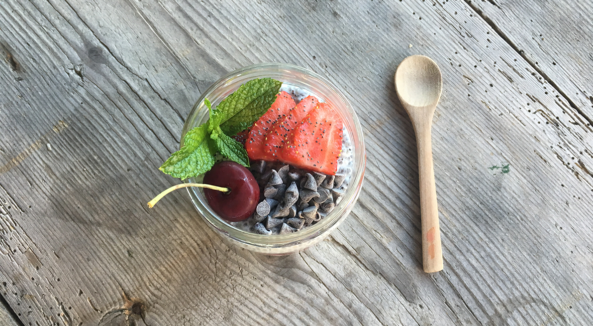 Chia pudding fruits rouges