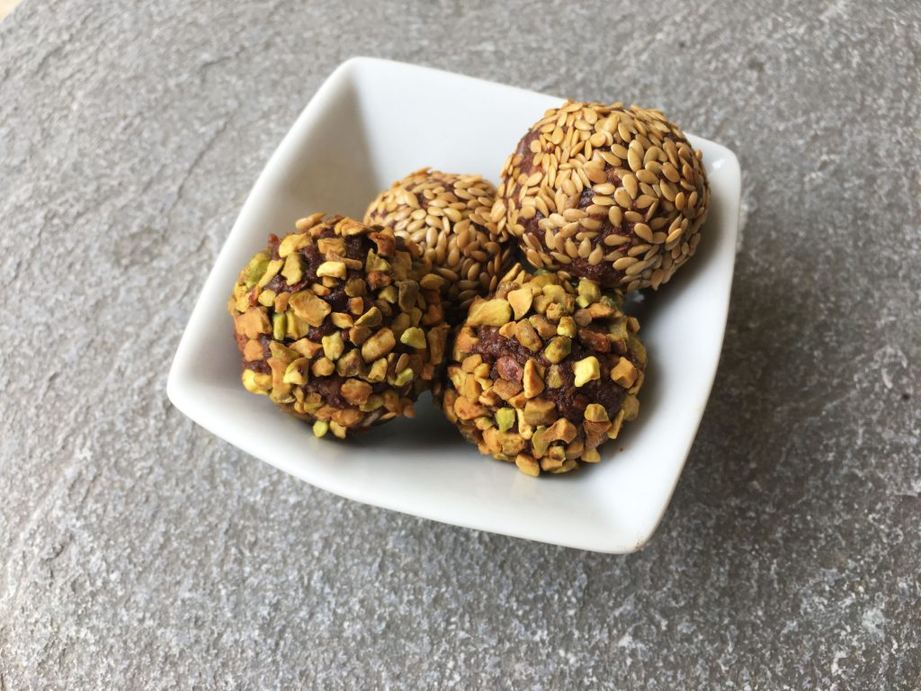 Energy balls dattes amandes cacao